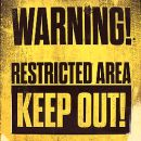Keep-Out sign illo