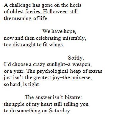 Do Not Forsake shape poem